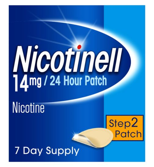 Nicotinell Nicotine Patch Stop Smoking Aid Step 2, 14 mg24 hour 7 patches