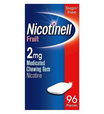 Nicotinell Fruit 2mg Chewing GumRegular Strength ÔÇô 96 Pack