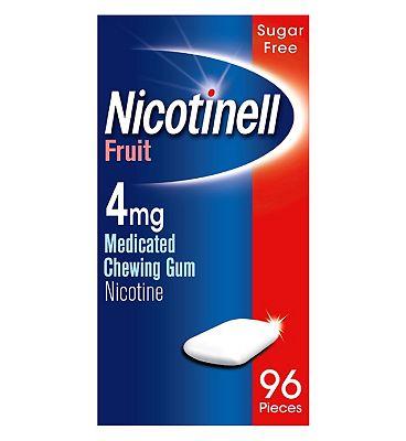 Nicotinell Nicotine Gum Stop Smoking Aid 4 mg Fruit 96 Pieces