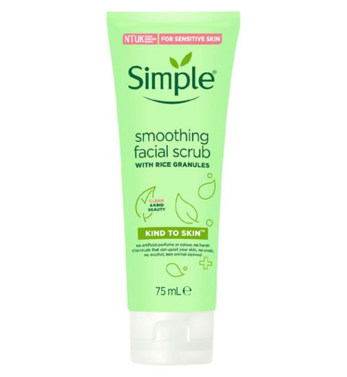 Simple Kind To Skin Soothing Facial Scrub 75ml