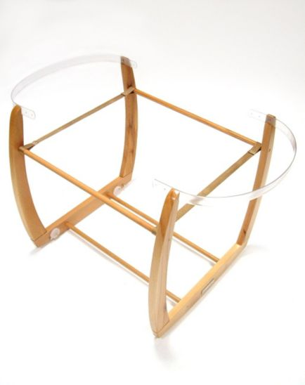Mamas & Papas Rocking Moses Basket Stand - Natural Finish