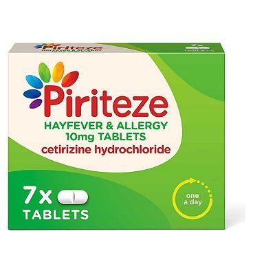 Piriteze Allergy Tablets - 7 Pack