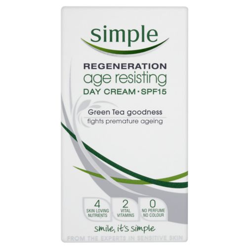 Simple Regeneration Age Resisting Day Cream SPF 15 50ml