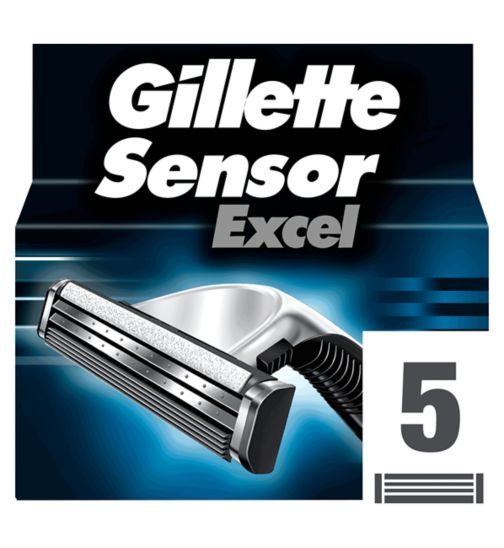 Gillette Sensor Excel Replacement Razor Blades 5 pack