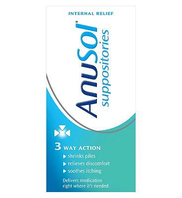 Anusol Suppositories Haemorrhoids (Piles) Treatment - 12 Pack