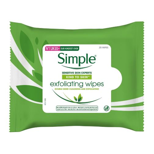 Simple Kind to Skin Facial Wipes Exfoliating 25pc