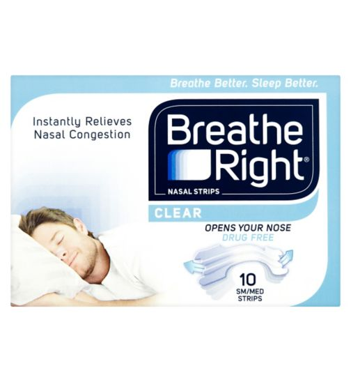 Breathe Right Clear Nasal Strips Small/Medium - 10 Pack