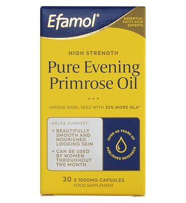 Efamol Woman. PURE RIGEL EVENING PRIMROSE OIL. 1000mg 30 capsules