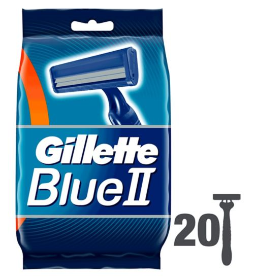 <p>Gillette Blue Plus Twin Blade Fixed Head Disposable Razors 20 Pack</p>