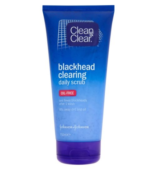 Clean & Clear Blackhead Clearing Oil-Free Daily Scrub 150ml