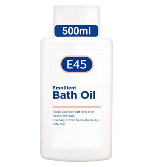 E45 Emollient Bath Oil for Dry & Itchy Skin - 500ml