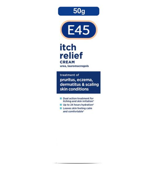 E45 Itch Cream for Eczema and Itchy Skin - 50g