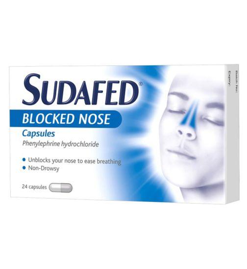 Sudafed Blocked Nose Capsules - 24 Capsules