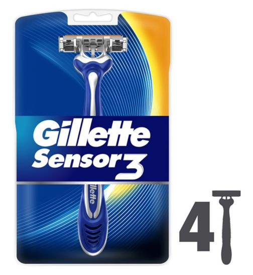 <p>Gillette Sensor 3 Disposable Razors - 4 Pack</p>