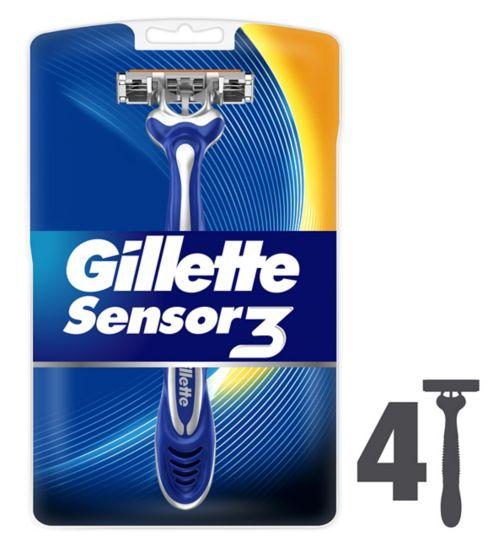 Gillette Sensor3 Disposable Razors 4pk