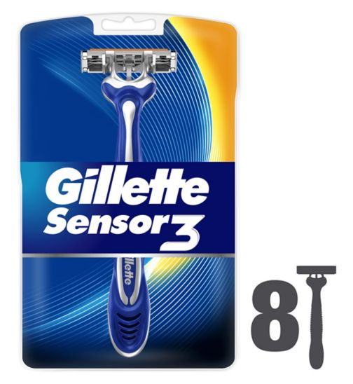 <p>Gillette Sensor 3 Disposable Razors - 8 Pack</p>