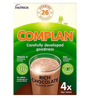 Complan nutritious vitamin-rich drink - chocolate 4 x 55g