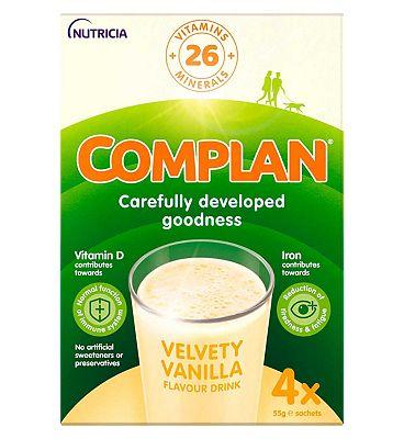 Complan Vanilla Flavour Nutritional Drink - 4 x 55g