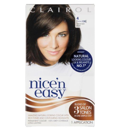 Nice'N Easy Permanent Hair Colour #4 Natural Dark Brown