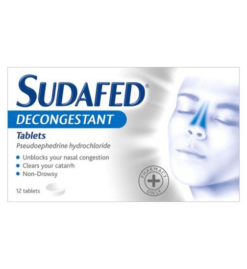 Sudafed Decongestant Tablets - 12