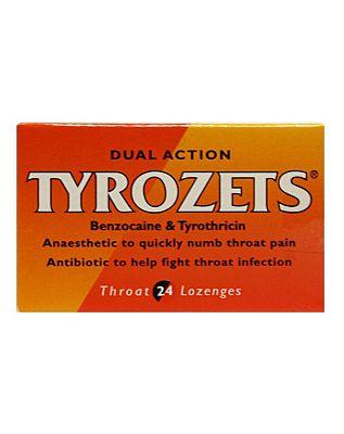 Tyrozets Throat Lozenges - 24 Lozenges