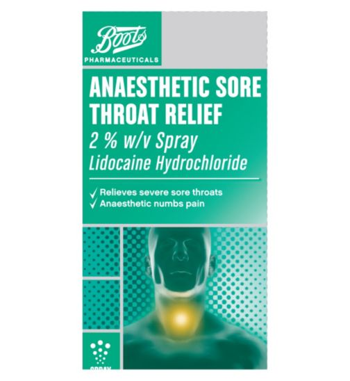 Boots Pharmaceuticals Anaesthetic Sore Throat Relief Spray