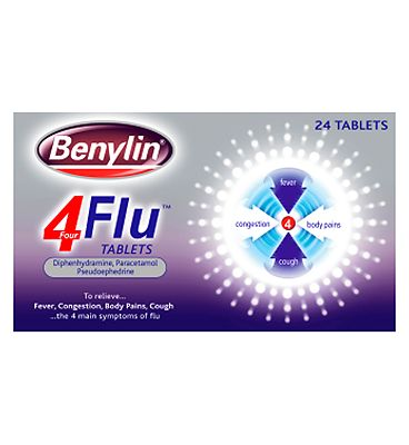 Benylin 4 Flu, 24 Tablets