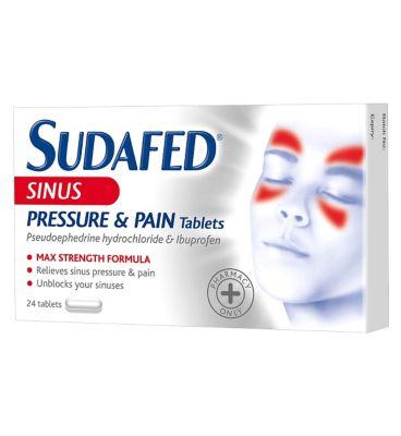 Sudafed Sinus Pain Caplets, 12 Hour 16 ea 4.43 $
