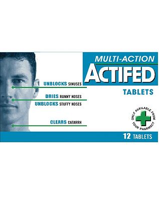 Multi-Action ACTIFED Tablets - 12 Tablets