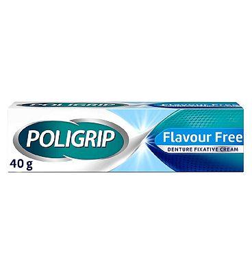 Poligrip Flavour Free Denture Fixative Cream 40g