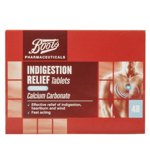 Boots Pharmaceuticals Indigestion Relief Tablets Peppermint Flavour - 48 tablets