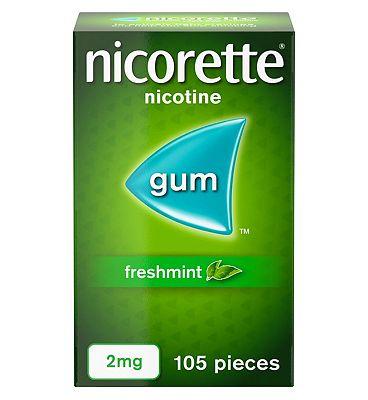 Nicorette Freshmint 2mg Gum - 105 Pieces
