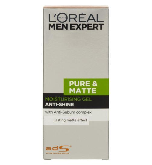 <p>L'Oreal Men Expert Pure &amp; Matte Anti-Shine Moisturising Gel 50ml</p>