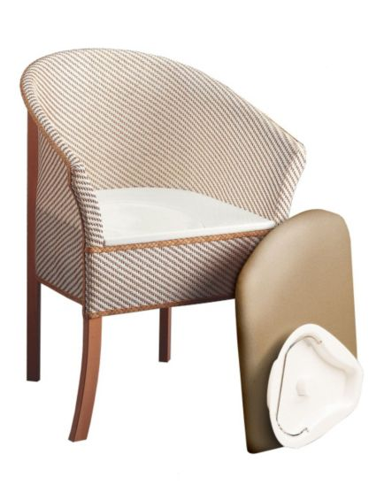 <p>Homecraft Basketweave Commode Chair</p>