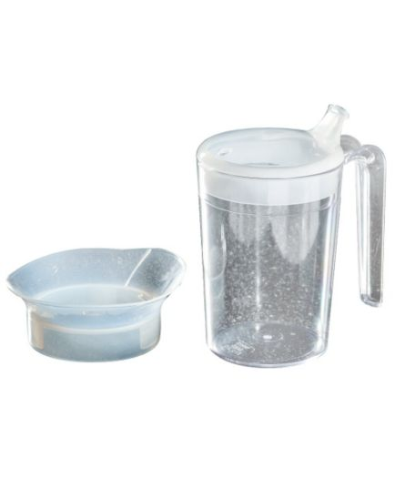<p>Homecraft Polycarbonate Clear Mug with 2 Lids - 400ml</p>