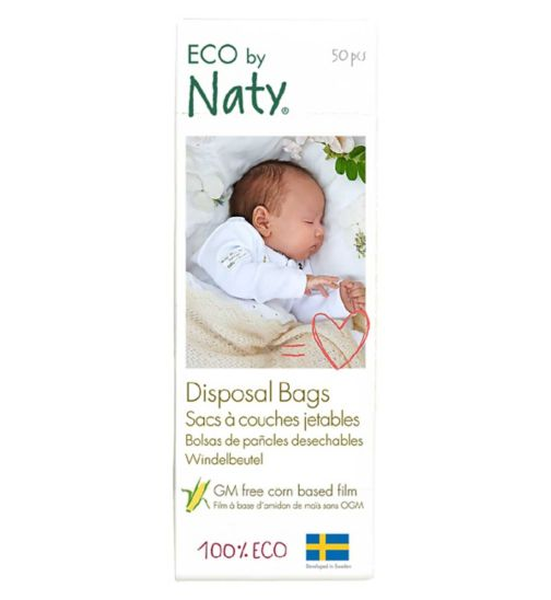 Naty Nature Babycare Eco Disposable Nappy Bags - 1 x  50 Pack