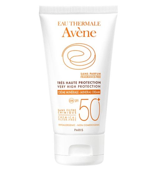 Eau Thermale Avène Very High Protection Mineral Cream SPF50+ for Intolerant Skin 50ml