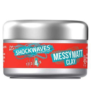 Wella Shockwaves Messy Matt Clay 75ml
