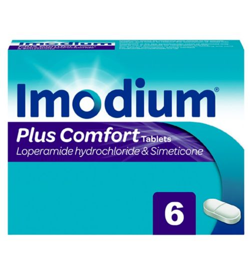 Imodium Plus - 6 Caplets