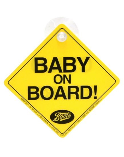 Boots Baby On Board Sign
