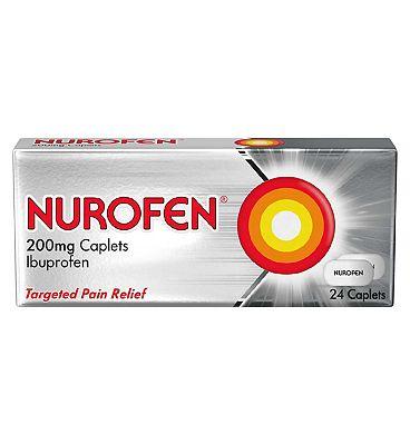 Nurofen 200 mg Caplets- 24 Pack Ibuprofen
