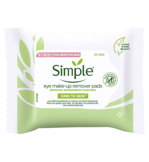 Simple Kind to Eyes Eye Make Up Remover Pads 30pc
