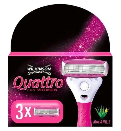 Wilkinson Sword Quattro for Women Replacement Blades 3s