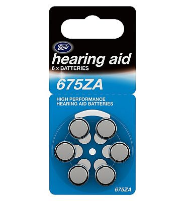 Boots Hearing Aid Batteries  Size 675  6 Pack