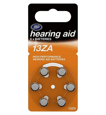 Boots Hearing Aid Batteries  Size 13  6 Pack