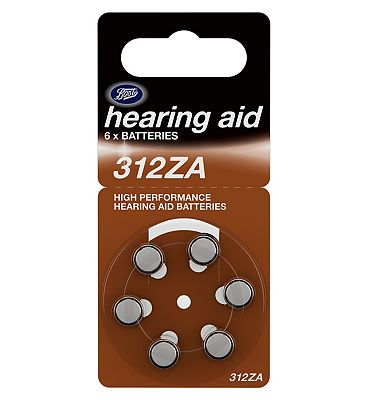Boots Hearing Aid Batteries 312ZA  6 Pack