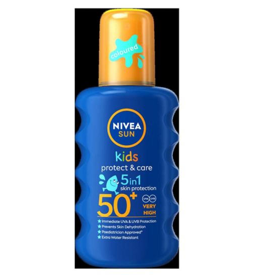 Nivea Sun Children's Coloured Spray SPF50 - 1 x 200ml