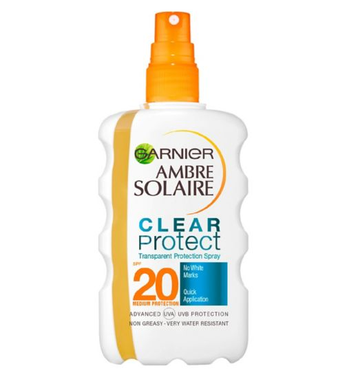 Ambre Solaire Clear Protect Sun Cream Spray SPF20 200ml