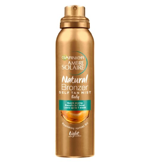 Garnier Ambre Solaire No Streaks Bronzer Self-Tanning Body Mist Light 150ml