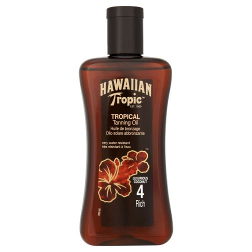 Hawaiian Tropic Tanning Oil 4 200ml